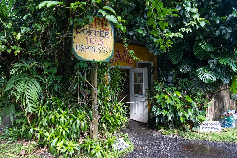 Little cafe just outside of Hana