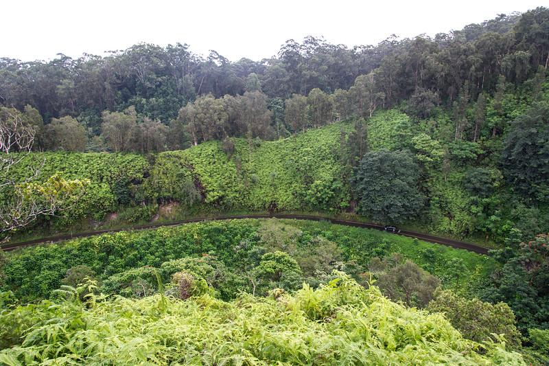 View of Hana highway from the Garden of Eden