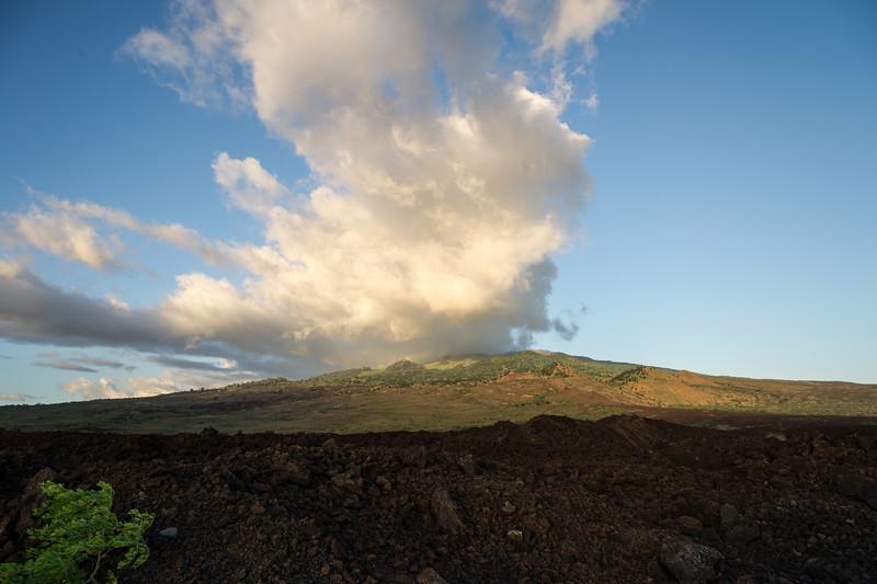 View toward Haleakala from the La Perouse Bay.