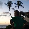 Cool dude watching the sunset in Kihei.
