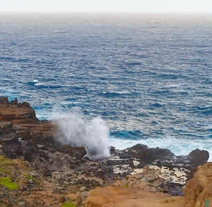 Nakalele blowhole: Water spouts up to 100 feet sometimes