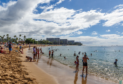 Kaanapali Beach: shot looking at hotels