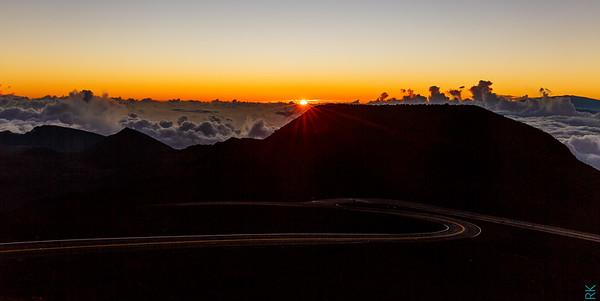 Sun rise at Haleakala