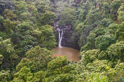 Garden of Eden:  Puohokamoa Falls