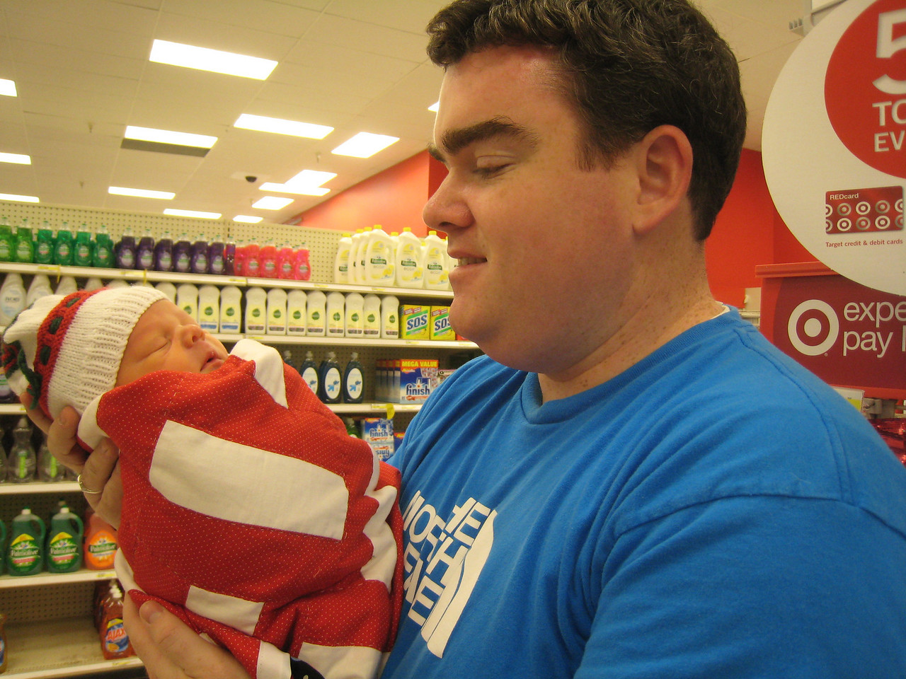 Max's first outing -- a trip to Target