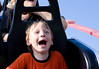 Classic screaming kid on a coaster