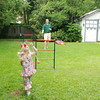 We went over to Aunt Brooke's house for Mother's Day and she had lots of fun lawn games for us to play.