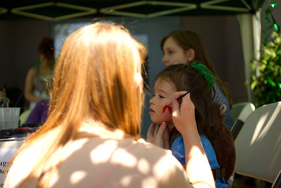 First face painting at the Shoreline Arts Festival