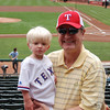 Papa and Brady at his first Ranger game