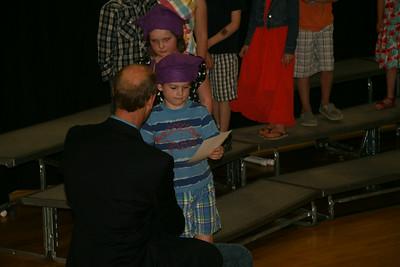 """Andrew's Kindergarten """"graduation"""" ceremony"""
