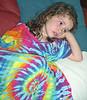 Sophia in Nana's tiedyed nightie