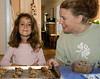 Sophia and Sylvia make cookies