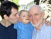 Three generations: son Matt, grandson Tucker, and paterfamilias Pat on Tucker's second birthday