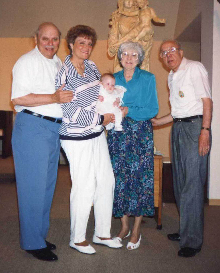 Joe, Eileen, Ange, Dom, and of course Katy at her baptism