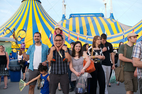 Just outside the big top