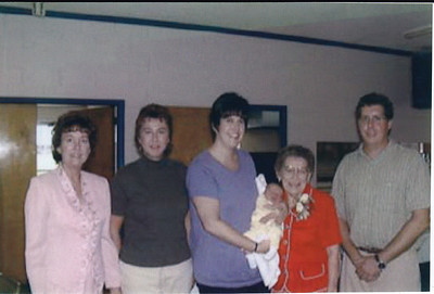 Nancy Faust (Pink) Evelyn Faust (Red).  Others are Mary's Family