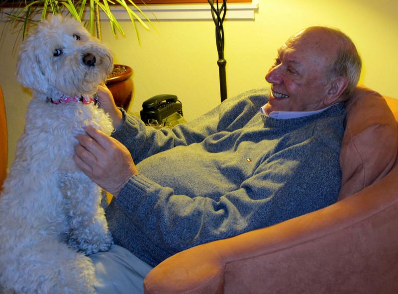 Roxie & dad.