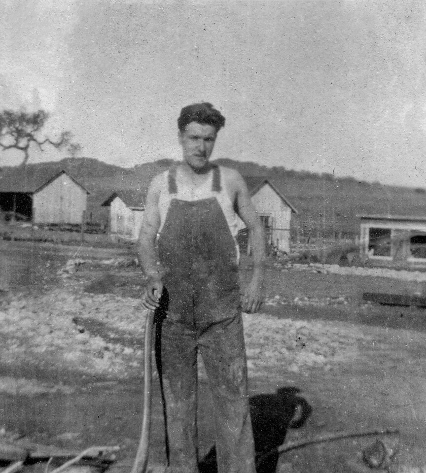 Homer M. McChesney on the Ranch about 1923