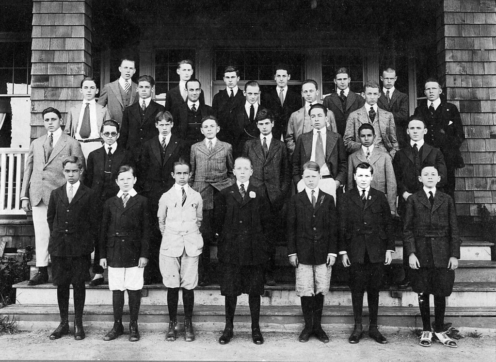 Homer Manson McChesney at boarding school. first row, 2nd from right.  It appears that he was in boarding school from the time that the family moved to New Jersey until they moved to the Ranch in San Luis Obispo (~1920).