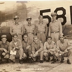 This is the McChesney flight crew that trained together and flew to Africa and completed 50 mission during WWII.  Jess Milo McChesney is in the back row, far right, while John (Jack) Ward is second from the right in the front row.  Jack (Junie) had some incredible memories of missions over Italy and being shot down.  Junie passed away on 1/9/09  Picture curtosy of Grace.