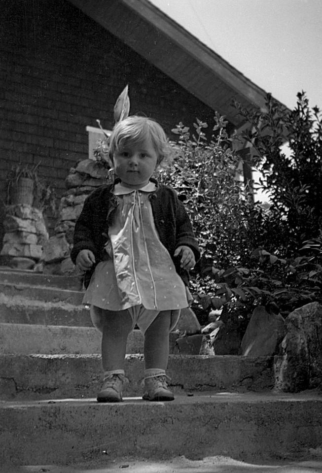 Martha McChesney at the ranch ~ 1936