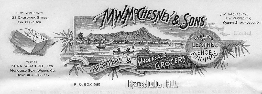 M.W. McChensey & Sons Letterhead