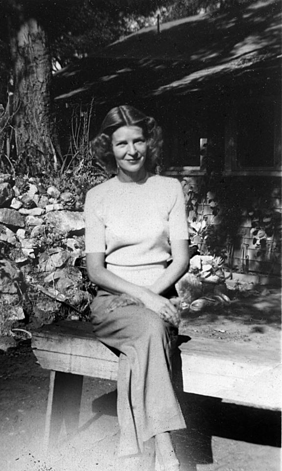 Lois Ruth McChesney at Grandma's house