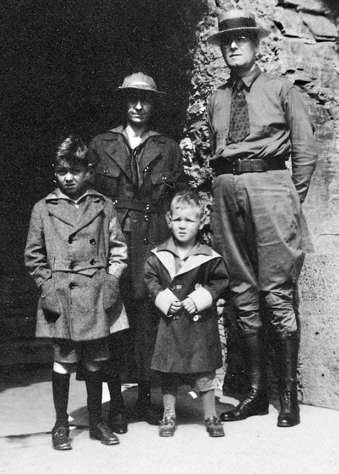 Emma M. and Leroy E McChesney Sr. with Leroy E McChesney Jr and Jess M McChesney, Unknown date.