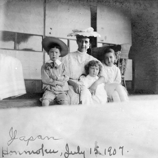 Emma Patchett McChesney with Homer Manson McChesney, Japan July 15th 1907