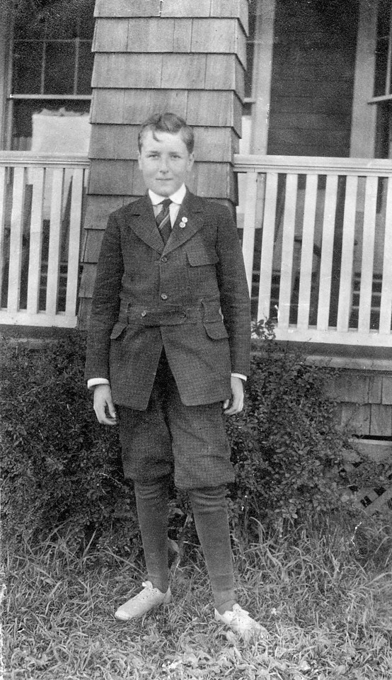 Homer M. McChesney, about 12 years old (?).  In this image, he looks just like my brother, Marc did, at that age.