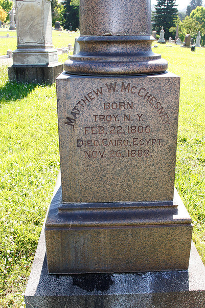 Grave of Mathew W. McChesney