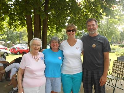 Shirley Moser, (Mo) Maureen Maloney, Mary Wagner and Greg MacDonald