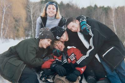 Cousins Snowtubing 2000