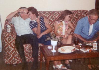 Dad, Jan McCaffery (Jack's wife), Ann Narzymski & Uncle Ed McCaffery