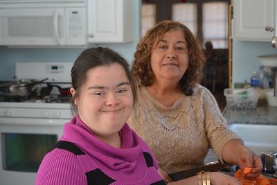Anita  Josh's daughter, and her Mother Soccoro,
