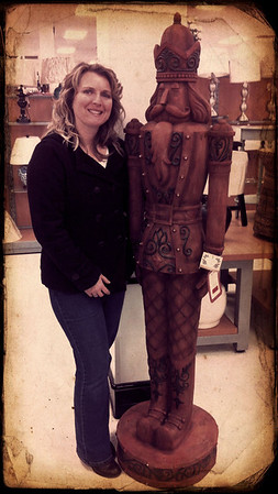 Me & a full sized nutcracker