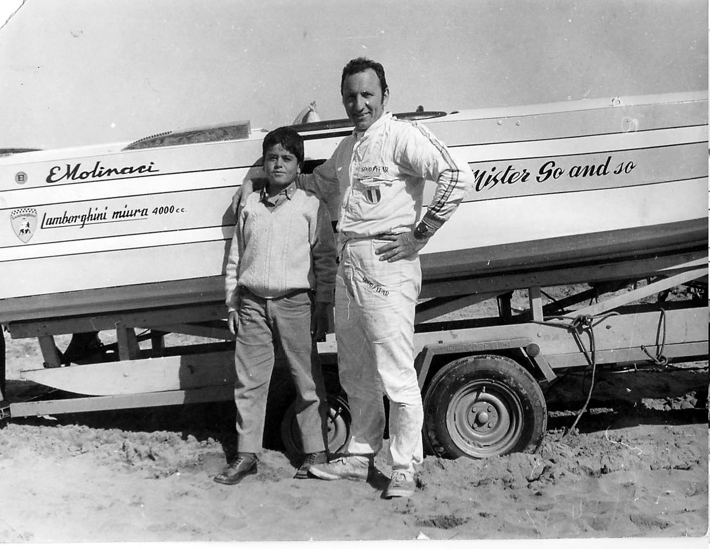 June 1968 - Meeting E.Molinari on Famagusta Beach, Cyprus