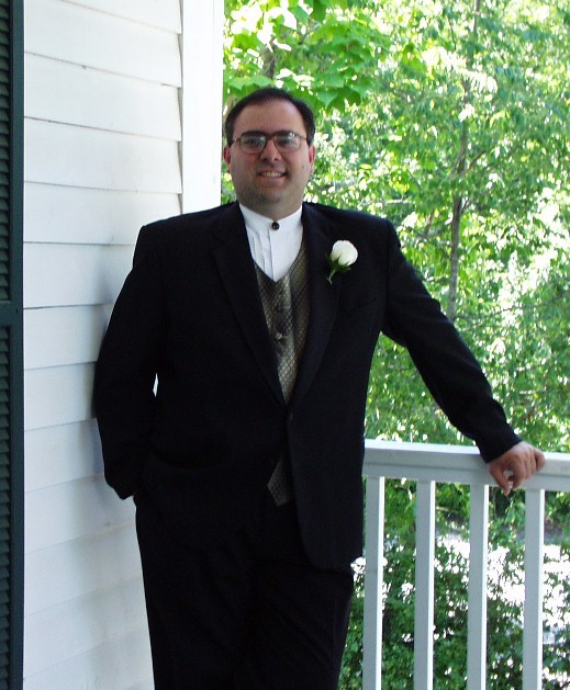 Amazing what a tux can do for a guy!  This is right before my friend, Kevin Grogg's wedding.