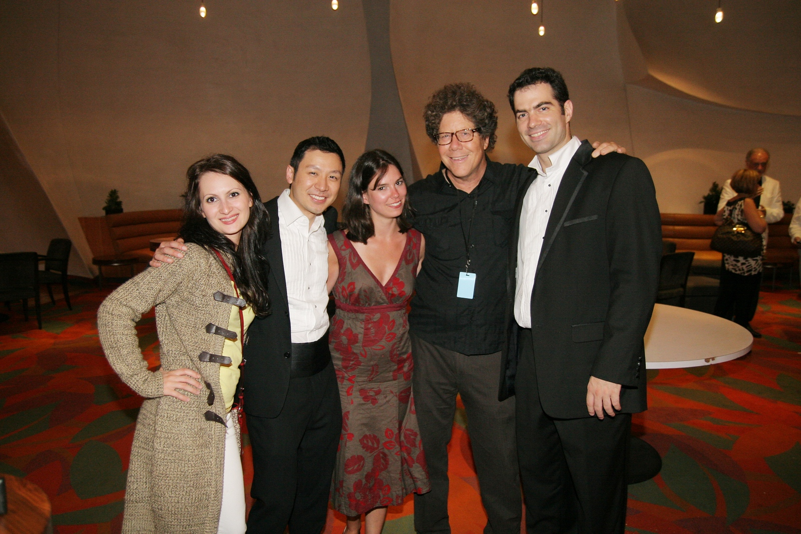 iPalpiti after party at Disney Hall with Conrad and Lars and some others I don't know as well.
