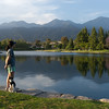 Catherine and Roscoe in front of Rancho Santa Margarita Lake in spring of 2011 - shot @ ISO 160, f/8.0, 1/100 sec, on Panasonic DMC-GH2 w/ LUMIX G VARIO 14-140/F4-5.8 lens at 22 mm