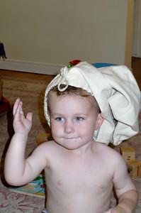 Daniel weras a funny hat
