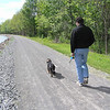 Seth and Scout along the Erie Canal