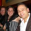 Aunt Chris, Meg, Cristian at dinner