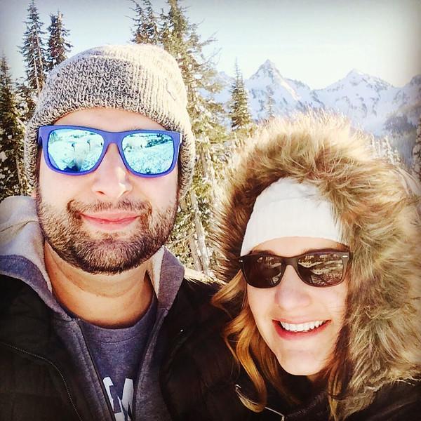 Sarah and Matt at Mt Rainier