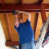 Ken, the electrician, kindly came out on Saturday morning to finish installation of a few last items required for our temporary occupancy permit.