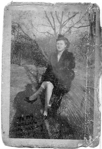 Catherine Melnick, photgraphed by Anthony in Central Park on their Honeymoon, November 16 1945.