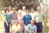Clyde wrote: This is a photo of Mom and Dad with all the kids  taken in their front yard. You can see the date on my tee shirt.