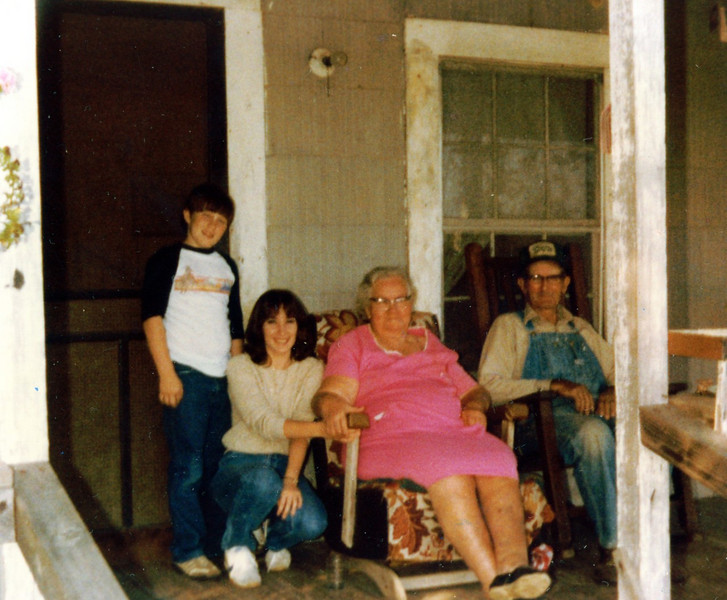 Jamie, Margaret, Memaw and Papa. I've spent countless hours on this front porch as have many of my cousins.