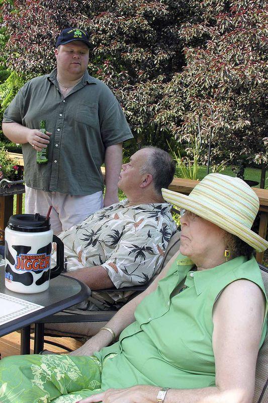 Memorial Day 2005  David, John, and Pat