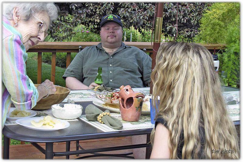 Memorial Day 2005 David, Grandma, and Jordan